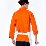 Форма шеф-повара кухни логоса Custom100%Cotton, форма 0Nисполнительный шеф-повара, форма пальто шеф-повара