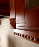 Insel-Art-amerikanischer Küche-Schrank-festes Holz-modularer Küche-Entwurf (zq-013)