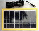 módulo plástico del picovoltio del panel solar del marco amarillo de 6V 9V 12V 3W para la iluminación del LED con el TUV aprobado