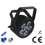 Ce keurde Compacte UV Lichte LEIDEN van het Stadium RGBWA PARI met de Slanke Huisvesting van het Aluminium goed Powercon