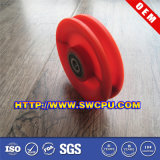 Polea de nylon del surco rojo del borde con llevar la polea de /Plastic
