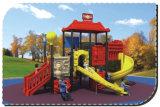 Campo de jogos plásticos ao ar livre HD-077A de Playsets da corrediça dos miúdos