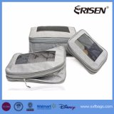 3PCS一定の圧縮のパッキングは旅行のための荷物のオルガナイザーを立方体にする