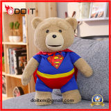 Luxuoso do urso da peluche do luxuoso do urso do brinquedo do luxuoso do superman