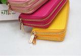 Горячая продавая классическая повелительница Двойн Застежка -молния Бумажник способа 2016, кожа PU бумажника, бумажник