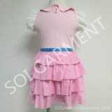 Sumer Tc와 Lace (KDR-12)를 가진 Rayon Baby Girl Dress