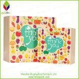 Impresión de cosecha de flores de papel de embalaje bolsa de regalo para el recorrido
