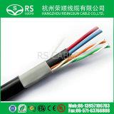 CCTV 0.75mmのためのDC電源ケーブルIPケーブルとのCat5e UTP 0.50mm