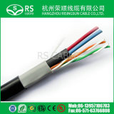 Cat5e UTP с кабелем IP силового кабеля DC на CCTV 0.75mm 0.50mm