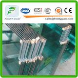 3-8mm bleus/vert/glace modelée Tempered claire de Nashiji/glace modelée durcie avec du CE et l'ISO9001