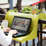 Balcon plastique Table avec Flower Pot / bureau / Planteur