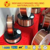 produto da soldadura do fio de soldadura Er70s-6/Sg2/G3si1 do carretel 5/15kg/Plastic de 0.8mm com proteção do gás do CO2
