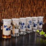 Tazza di tè di vetro di stile della Cina con l'insieme di tè di ceramica della ciotola del tè del filtro
