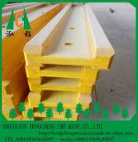 Viga de madera pintada amarillo H20/H16, LVL de pino del pino para el borde, madera contrachapada del álamo para el Web