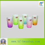 茶ガラス製品のためのカスタマイズされたカラー熱い販売の飲料水のガラスコップ