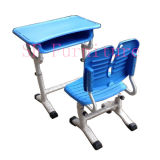 PP Plastic Desk y Chair Set, Adjustable Leg Height