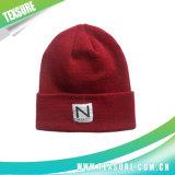 Sombreros hechos punto unisex reversibles de las gorritas tejidas de la insignia del remiendo (059)