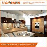 顧客用現代木製の穀物のメラミン食器棚