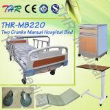 식탁 (THR-MB220)를 가진 2 크랭크 의학 수동 침대