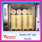 BOPP Film Acrylic Material Made Adhesive Sealing Tape Jumbo Roll para Factory Cutting
