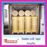 BOPP Film Acrylic Material Made Adhesive Sealing Tape Jumbo Roll per Factory Cutting