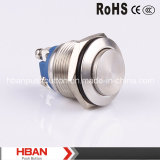 CE RoHS High Momentary Waterproof Push Button de Hban (19mm)
