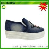 Mejores Ventas de colorido nueva tendencia de moda zapatos de tacón alto de la señora lona