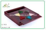 MDF Wooden Chess Set mit Wooden Pegs