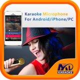 Draagbare Mic voor Andriod de Karaoke van iPhonePC met de Originele Vocale on/off Functie van Liederen