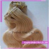 Clip peruviana nelle estensioni dei capelli per le donne di colore