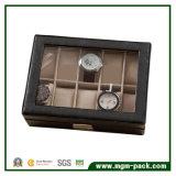 Las 10 ranuras por encargo cubren el rectángulo de reloj con cuero