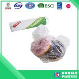 Sac plat en plastique de LDPE de HDPE de catégorie comestible sur le roulis