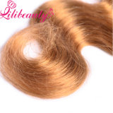 倍によって引かれる100%のインド人のVrginの毛の束の人間の毛髪