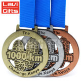 El OEM barato de encargo del campeón del mundo grabó la medalla plateada bronce conmemorativo del deporte del metal de la concesión