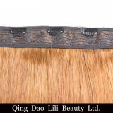 バージンの毛の拡張のインドのRemyの毛の拡張安く100%人間の毛髪クリップ