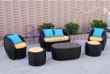 Doble al aire libre de la sala de estar del hotel del ocio del balcón del jardín y solo pequeño sofá de la rota del PE del apartamento