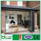 Puerta de plegamiento de aluminio del estilo de Pnoc080320ls Europa con buen precio