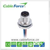 M12 8pin männlicher gerader wasserdichter Kabel-Verbinder für industrielle Automatisierung