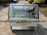 杭州の堅いアイスクリームの表示フリーザーの/Iceのクリーム色のショーケースG2o