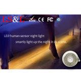 La luz IP68 del sensor de la noche del LED calienta 3000K. blanco