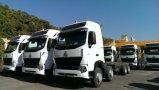 높은 지붕 트랙터 트럭을 운전하는 HOWO A7 6X4