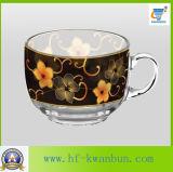 Напечатанные чашки стеклоизделия надувательства высокого качества горячие с плитами Kb-Hn08165