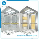 Cabina del elevador del pasajero con el buen final de la decoración y de la aguafuerte (OS41)