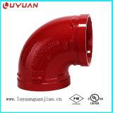 Encaixes de tubulação Grooved do ferro de Ductilie da classe 65-45-15 de ASTM 536 com aprovaçã0 do UL de FM