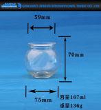De kleine Houder van de Kaars van het Glas van het Glaswerk van de Kaars van de Grootte voor Decoratie