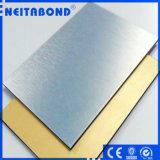Panneau en aluminium balayé par argent métallique de matière composite