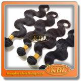 Schwarze Farbe peruanisches Remy Haar