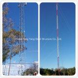 Torre Telecom de radio triangular de Guyed de la comunicación de acero de la antena