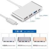 Type d'USB 3.1 câble de C pour l'interpréteur de commandes interactif d'alliage d'aluminium de couleur de pivot