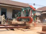 Машина Woodworking лесопилки вырезывания портативной горизонтальной лесопилки диапазона деревянная